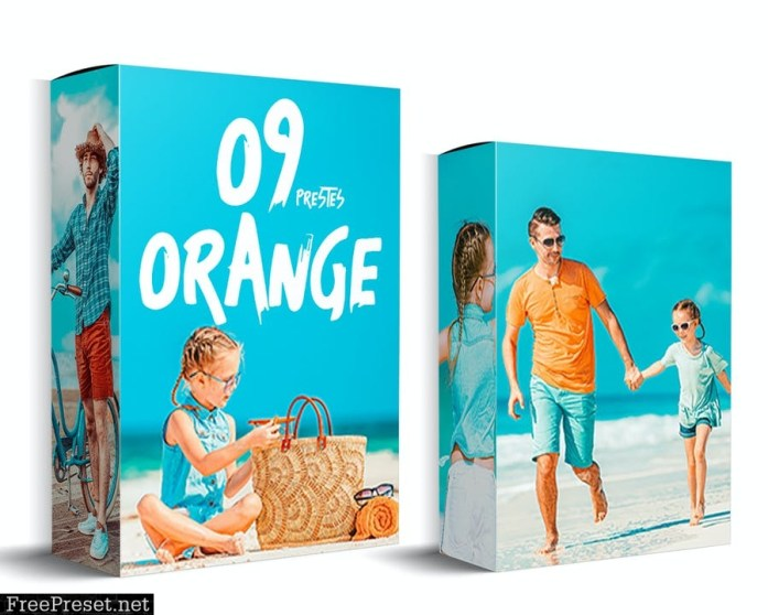 09 Orange and Teal Photoshop Actions
