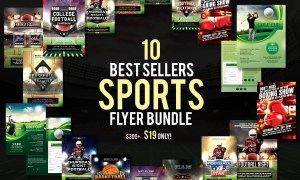 10 Best Sellers Sports Flyer Bundle 3152664