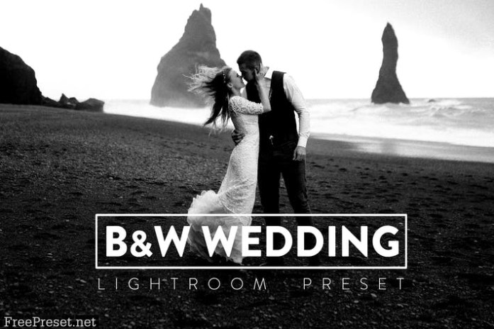 10 Black and White Wedding Lightroom Preset