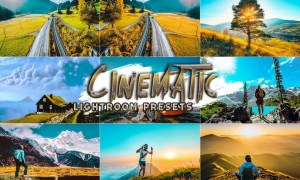 12 Cinematic Travel Presets Lightroom