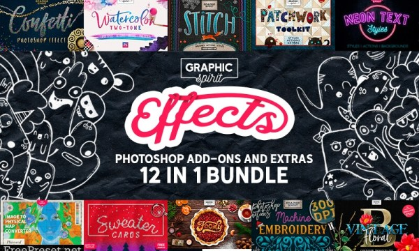 12-In-1 Photoshop Add-Ons Bundle