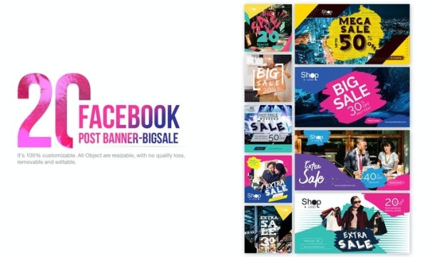20 Facebook Post Banner-Big Sale 23KDSP