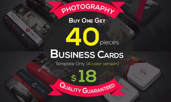 40 Photography Business Cards Bundle 4606406