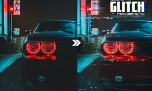 Animated Glitch 2 - Photoshop Action BUY232W