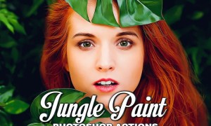 Jungle Painting Photoshop Action DUSBXCF