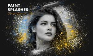 Paint Splashes Photo Effect