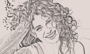 Smooth Pencil Sketch Photoshop Action 30545695