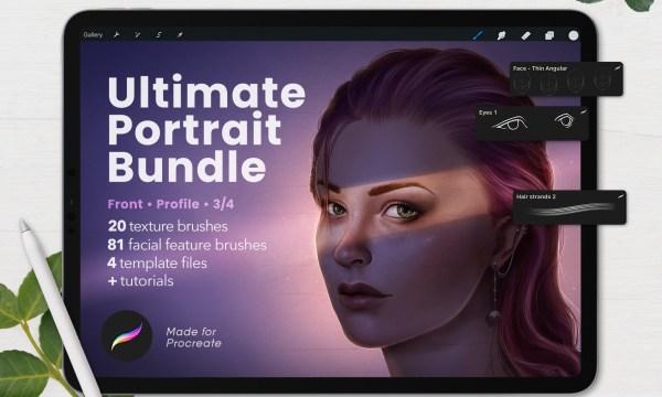 Ultimate Procreate Portrait Bundle 5892281