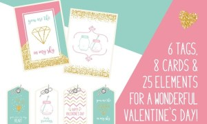 Valentine`s Day Vector Bundle TEGF8F