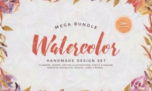 Watercolor Handmade Design Bundle 6S9ER6