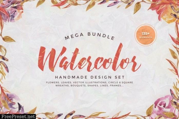 Watercolor Handmade Design Bundle 6S9ER6