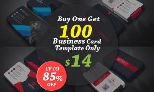100 Business Card Template Bundle 5910107
