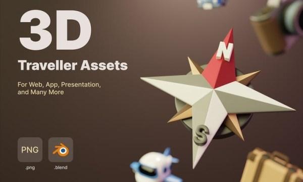 3D Traveller Assets