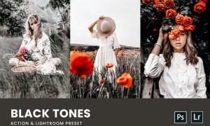 Black Tones Photoshop Action & Lightrom Presets