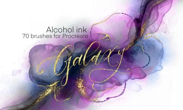 Galaxy Alcohol Ink Brushset 5997008Galaxy Alcohol Ink Brushset 5997008