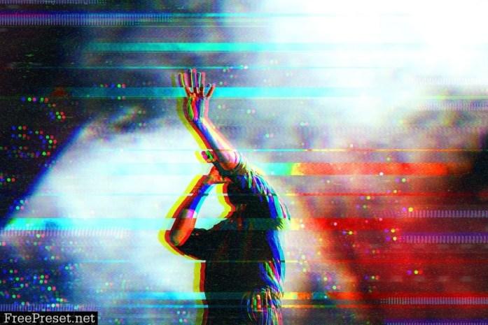 Glitch Distortion Photo Effect