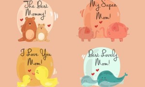 Happy Mother's Day Bundle Illustration