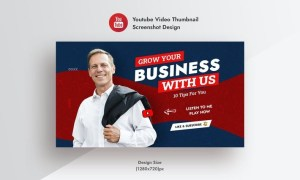 Promotional Business & Corporate YouTube Thumbnail 7R8J4VF