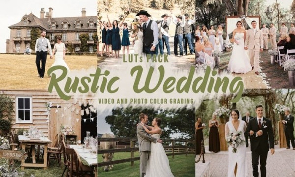 Rustic Wedding LUTs - Video Color Grading Filters