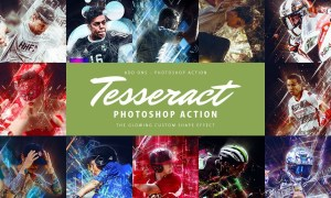 Tesseract Photoshop Action 4284639