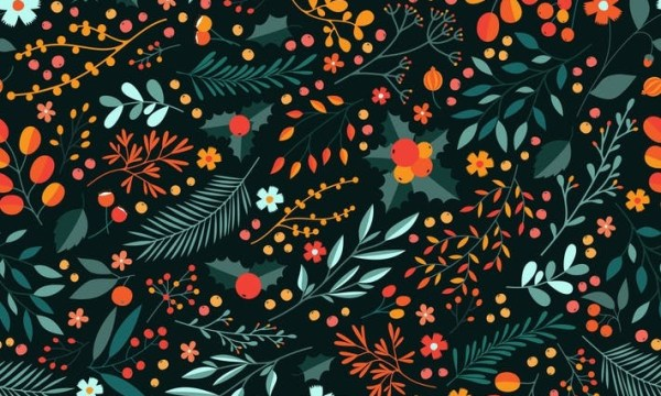 Winter Floral Pattern