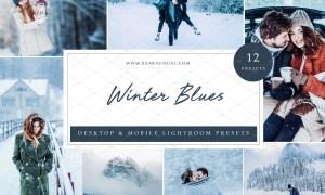 12 x Lightroom Presets, Winter Blues 5962807