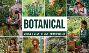 Botanical Mobile and Desktop Lightroom Presets