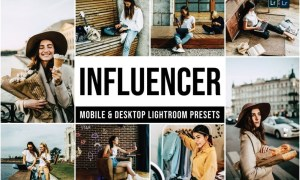 Influencer Mobile and Desktop Lightroom Presets