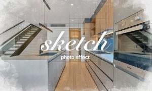 Interior Sketch Photo Effect