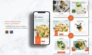 Food Instagram Post & Stories 5ETQL7F