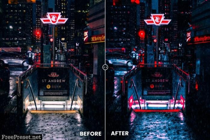 Futuristic City Action & Lightrom Presets