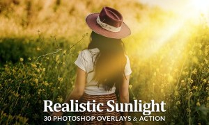 Realistic Sun Light Photoshop Overlays and Action