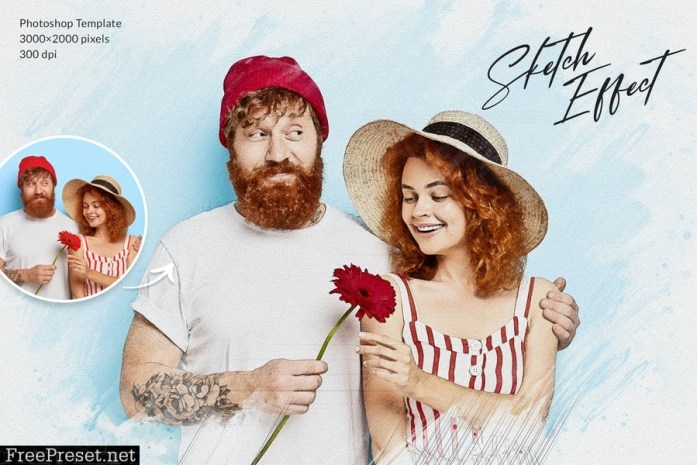 Sketch Effect - Photoshop Template