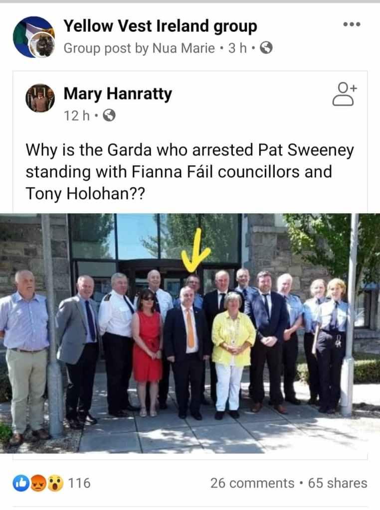 Pat Sweeney Gardai