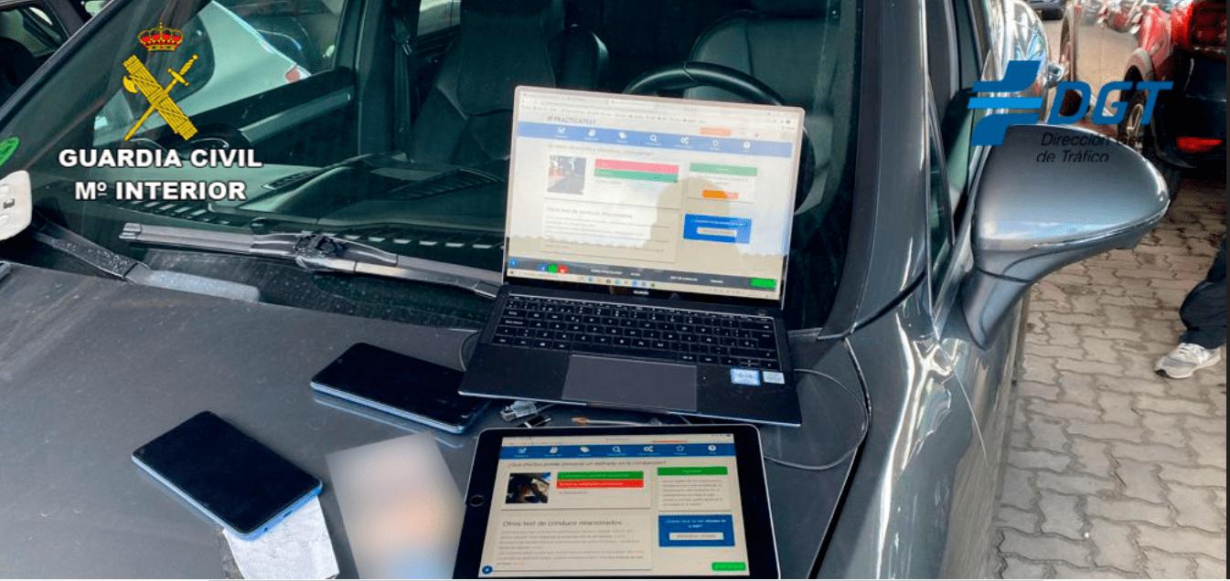 copiar examen de conducir