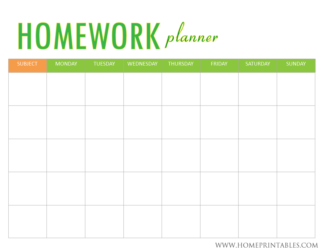 Looking For A Homework Planner