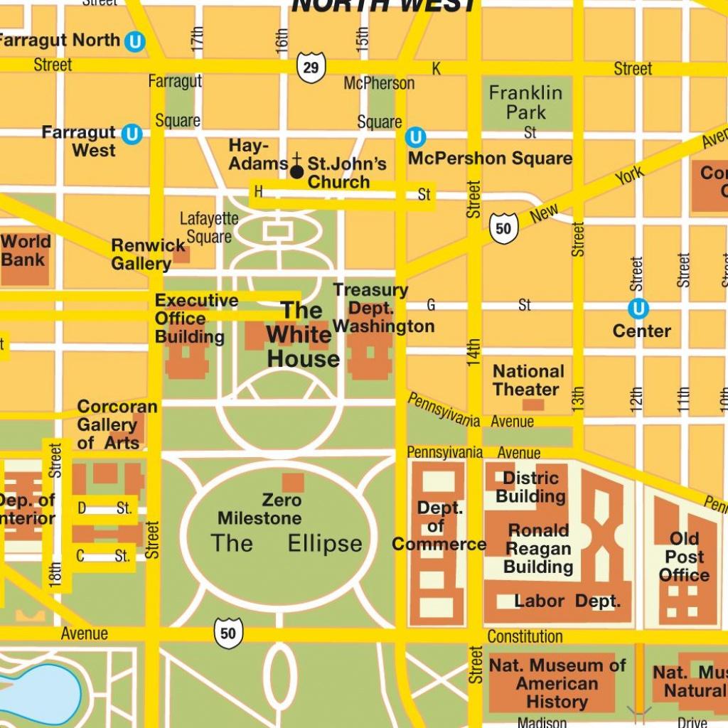 Washington Dc City Map Printable