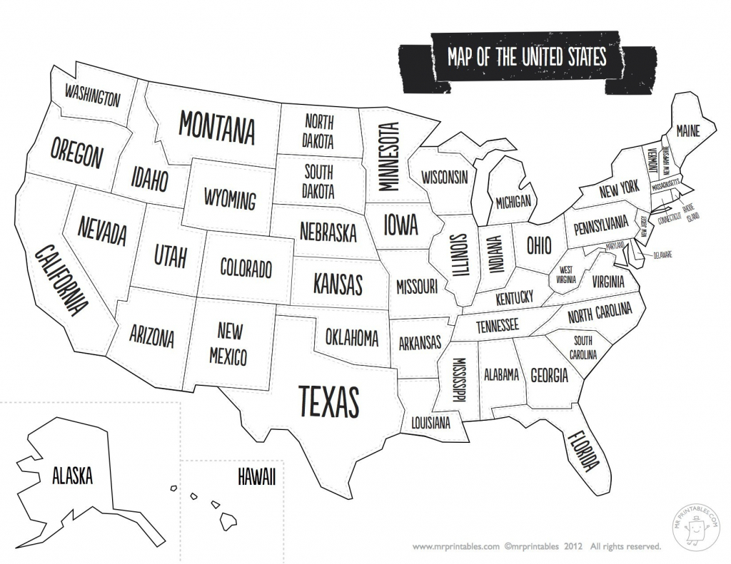 Printable Us Map With Major Cities And Travel Information