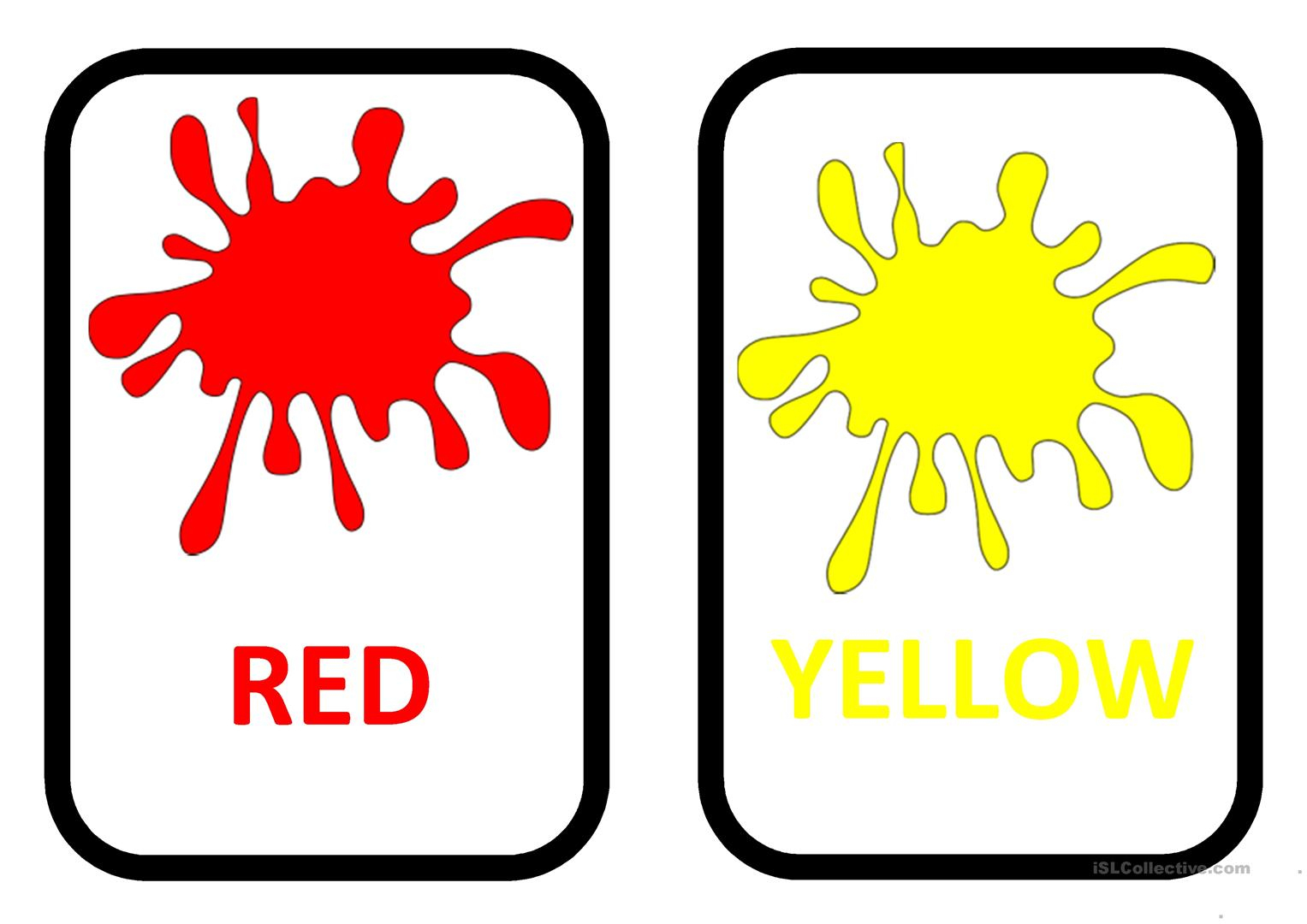 Free Printable Colour Flashcards