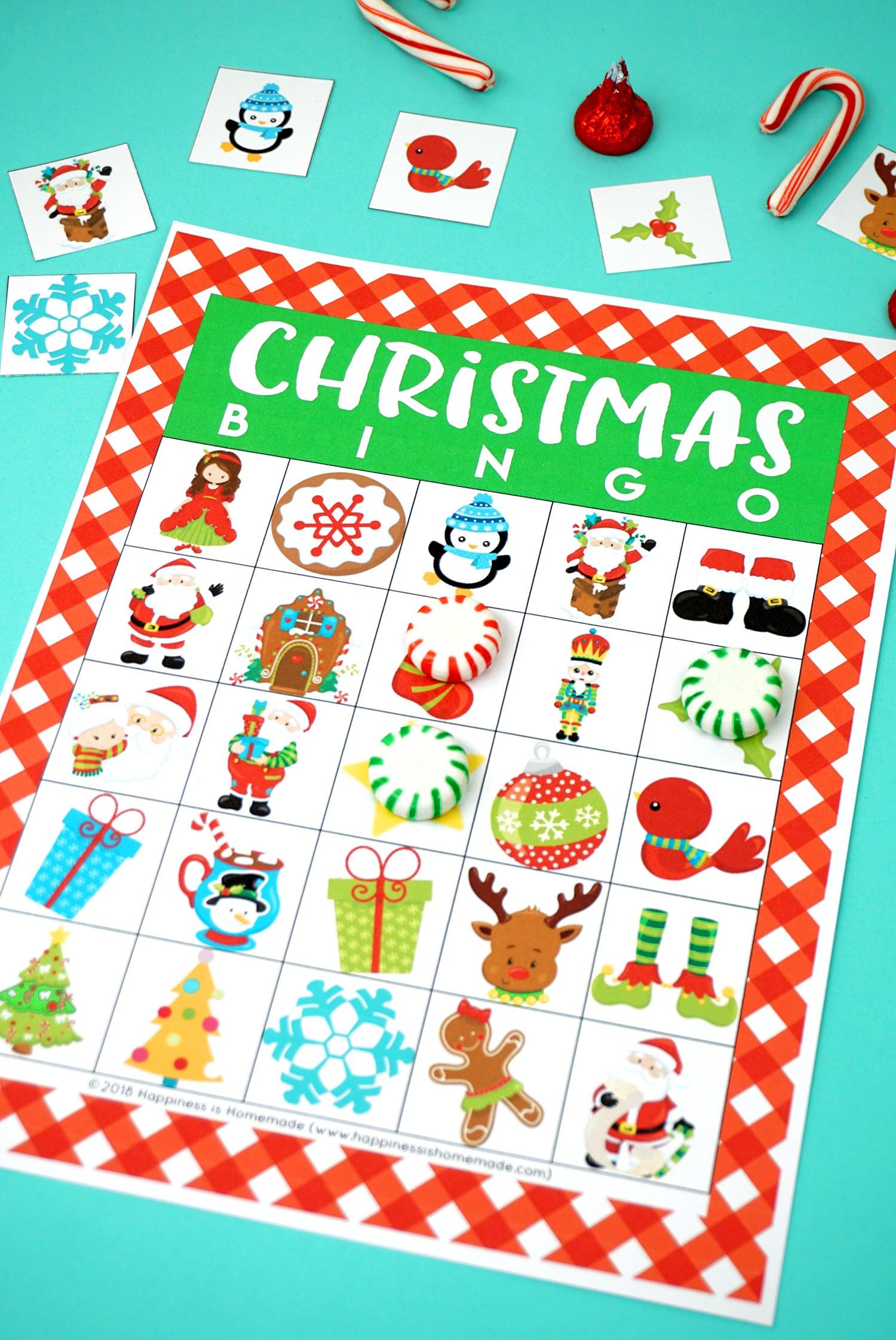 Free Printable Christmas Bingo Cards