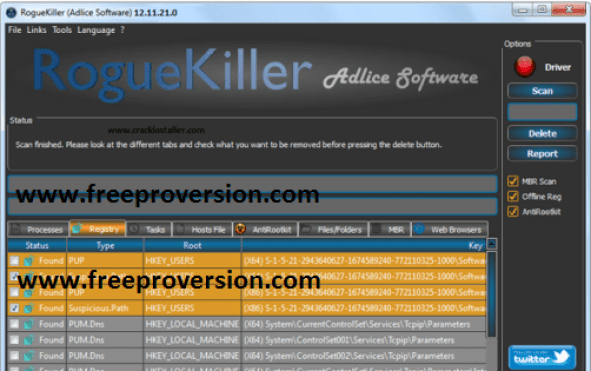 RogueKiller 12.12.17 Crack + Keygen License Key Free Download 2018