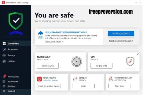 BitDefender Total Security 2019 Crack Free Download[Activated]