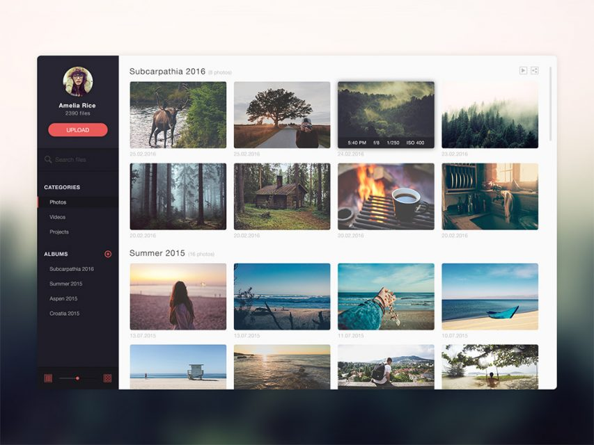 Free Photo Gallery Website Application Template Free Psd At