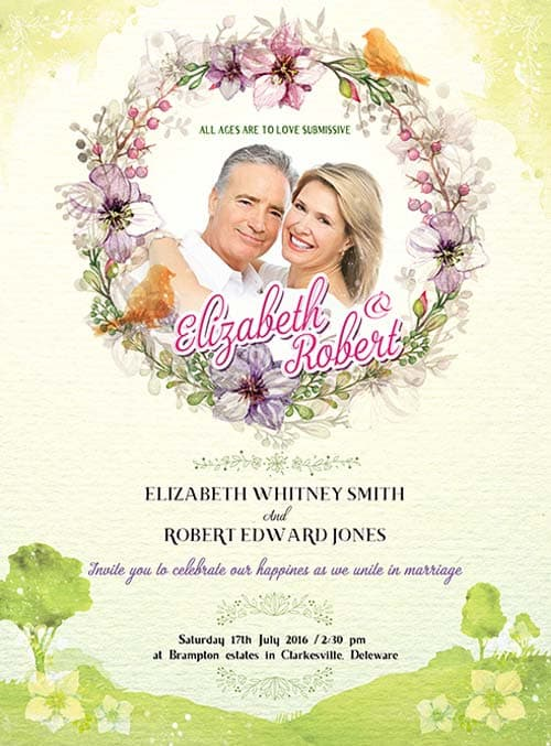 Wedding Invitation Free Psd Flyer Template Download For