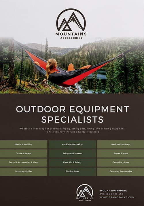 Camping Poster Free Template Pack Download PSD Poster And Flyer Templates