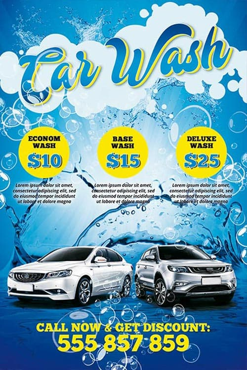 Download The Car Wash Free PSD Poster Template