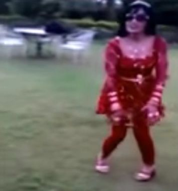 Radhe Maa Dancing in a Video