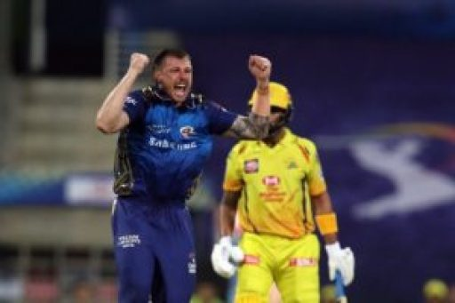 James Pattinson after taking his first IPL wicket
