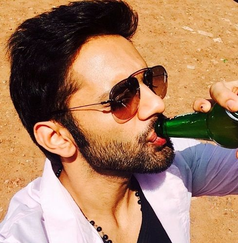 Rahul Vaidya Drinking Beer