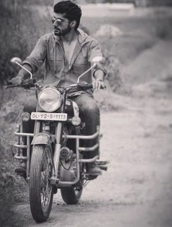 Mridul Madhok Riding His Motorcycle